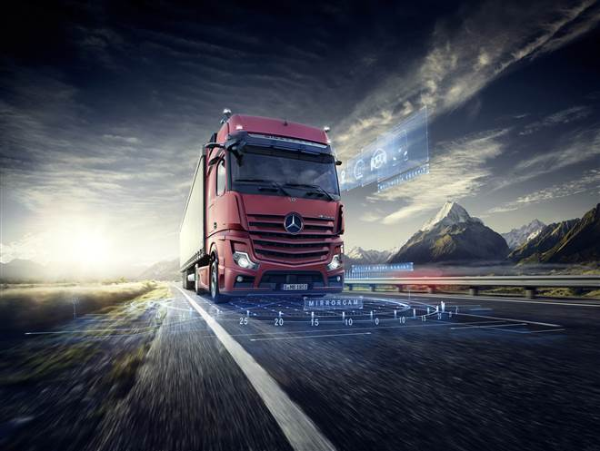 D547861 Daimler commercial vehicles at the Bauma trade fair from 8 – 14 April 2019 in Munich